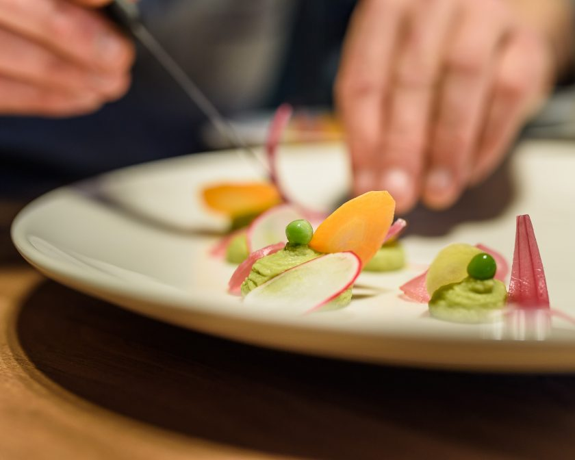 Assiette cuisinée par le chef Laurent Paoli.