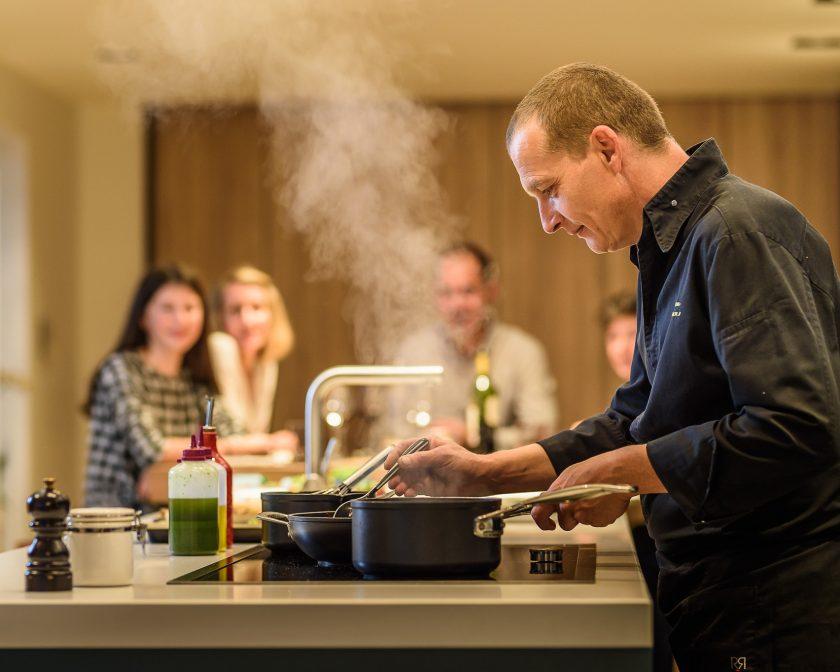 Le chef privé Laurent Paoli cuisine à domicile.