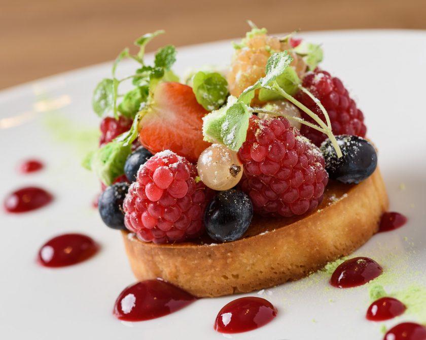 Pâtisserie tarte aux fruits rouges